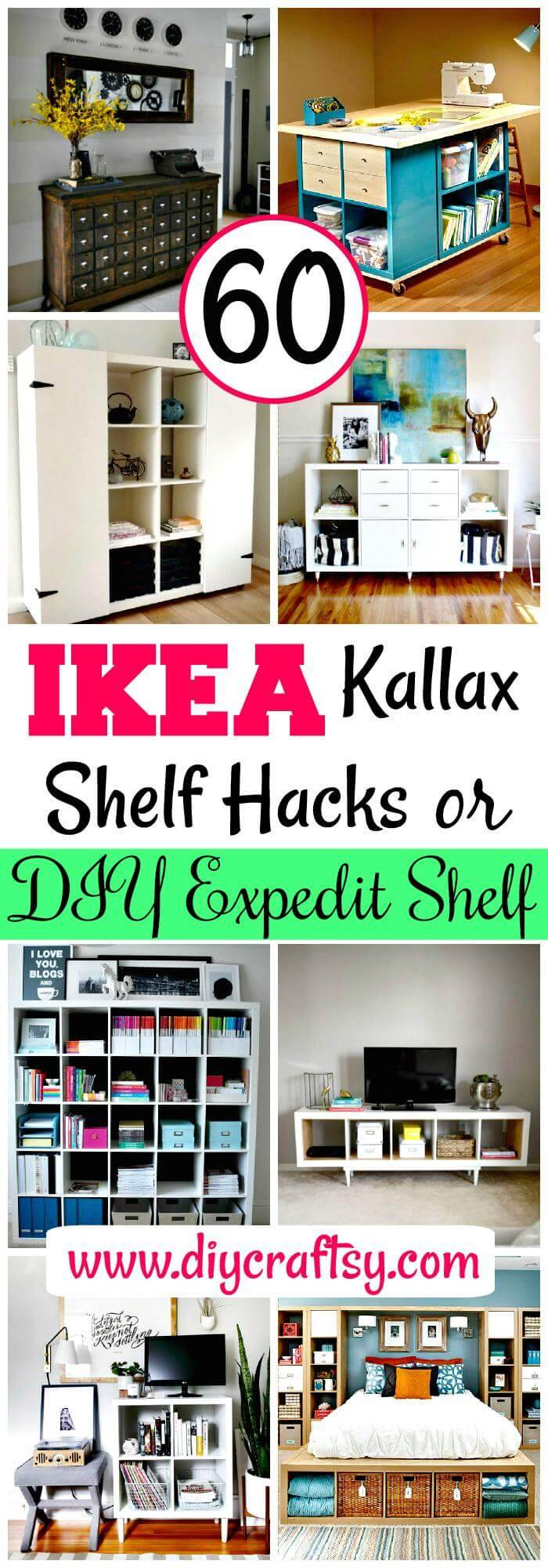 IKEA Kallax Shelf Hacks