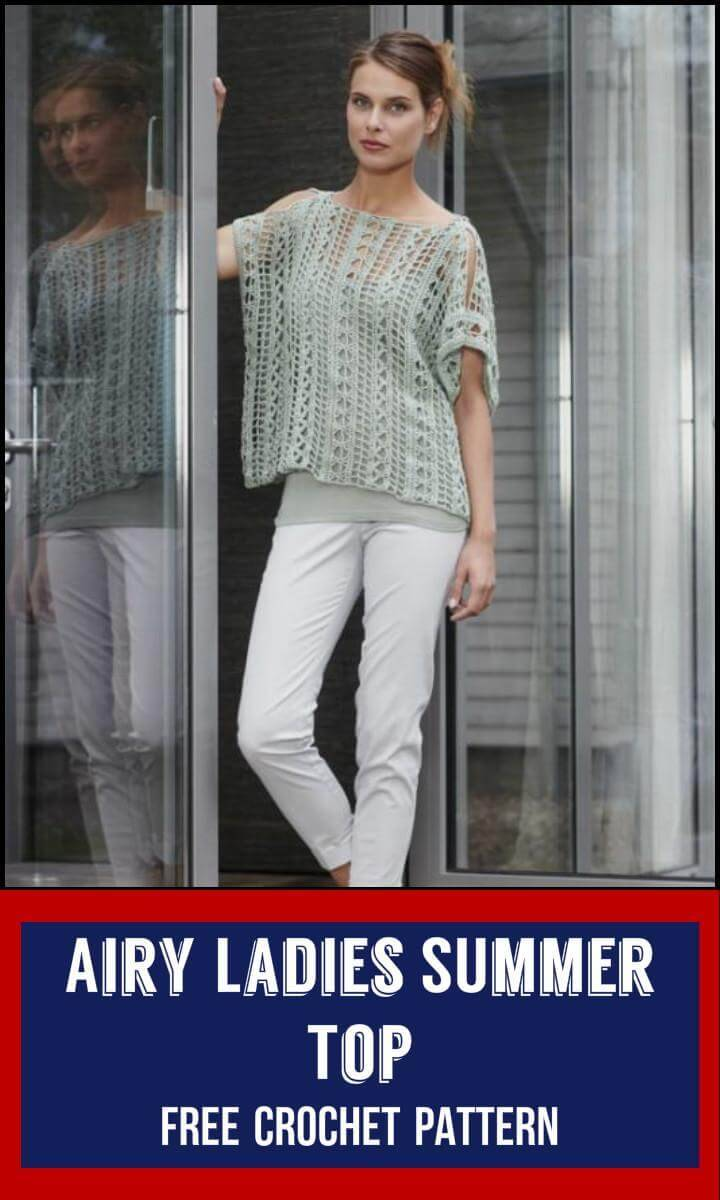 Airy Ladies SUmmer Top Free Crochet Pattern