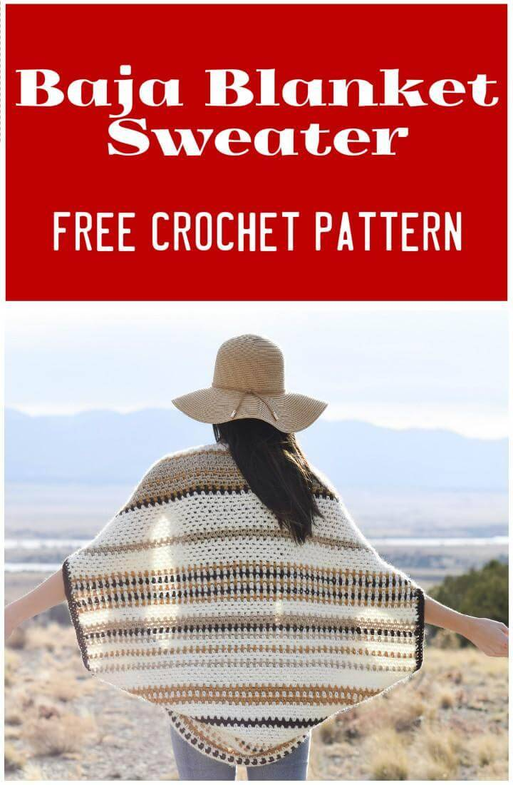 Baja Blanket Sweater Free Crochet Pattern