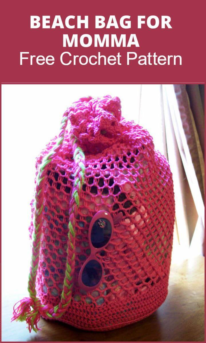 Beach Bag for Momma Free Crochet Pattern