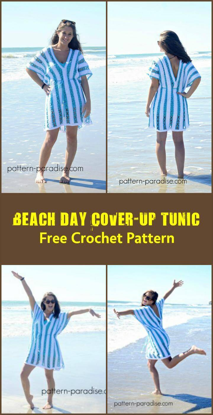 Beach Day Cover-Up Tunic Free Crochet Pattern
