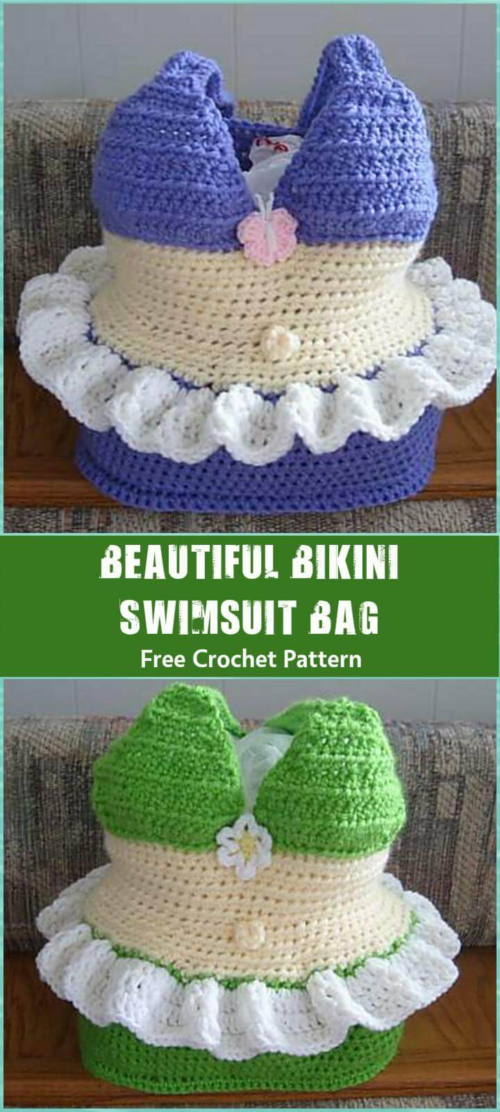 Beautiful Bikini Swimsuit Bag Free Crochet Pattern