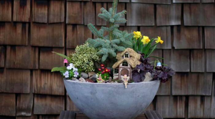 Beautiful Spring Fairy Garden
