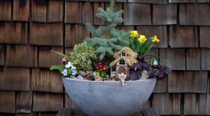 Beautiful Spring Fairy Garden