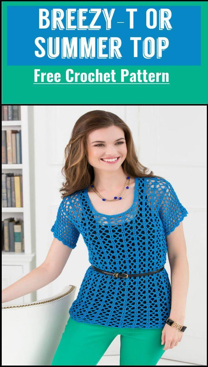 Breezy-T Or Summer Top Free Crochet Pattern