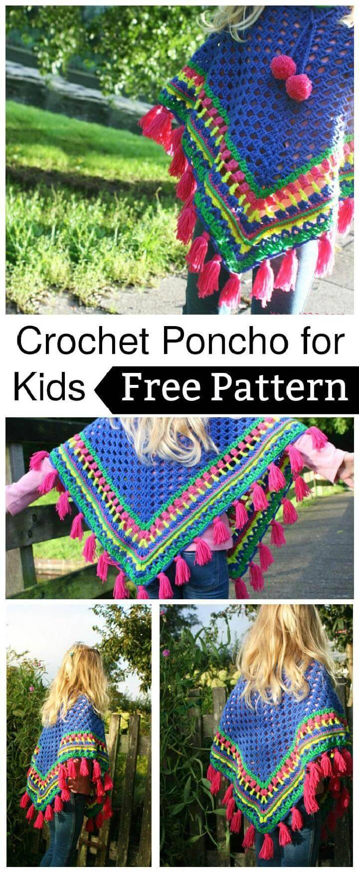 20 Free Crochet Summer Poncho Patterns for Women\'s - DIY & Crafts