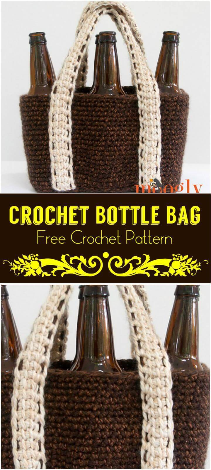 Crochet Bottle Bag Free Crochet Pattern