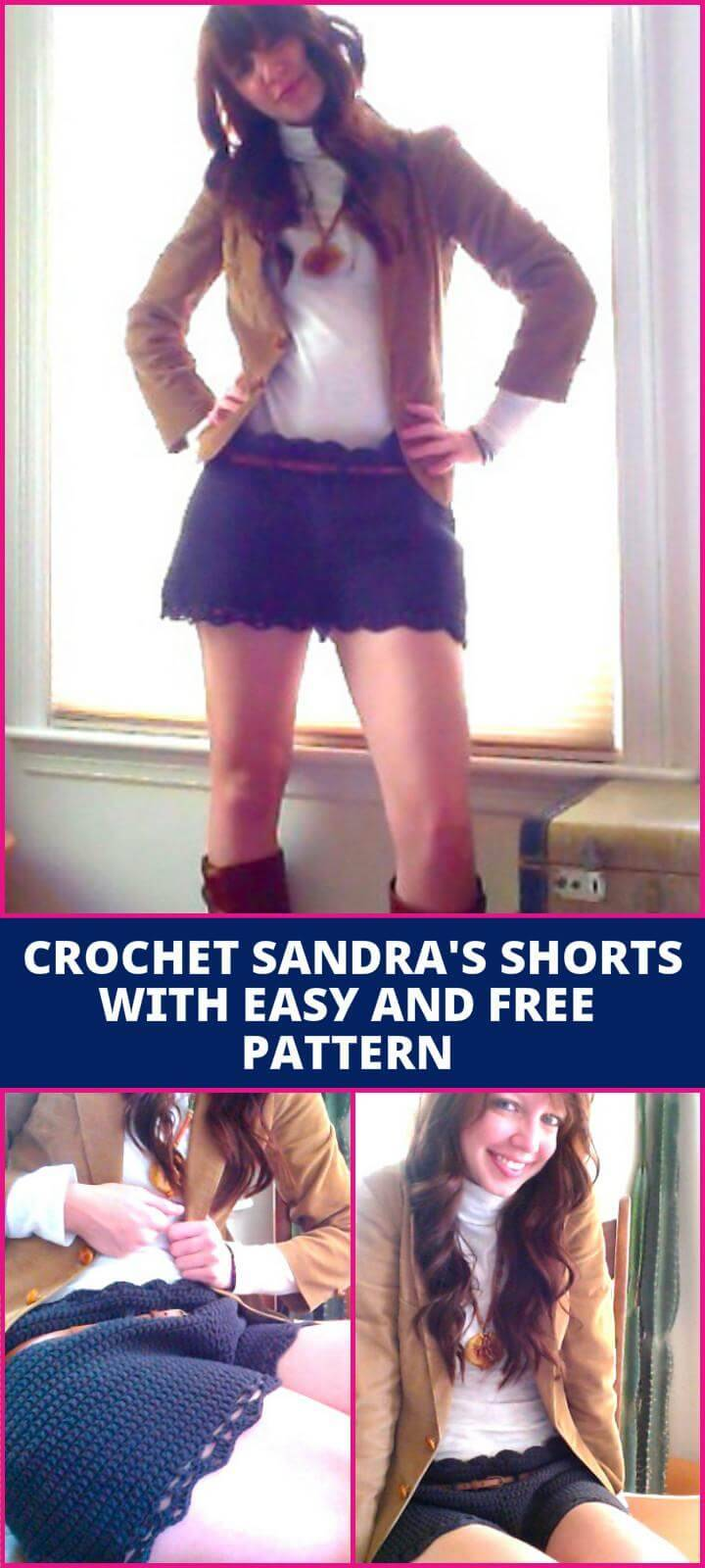 Crochet Sandra's Shorts with easy and Free Pattern