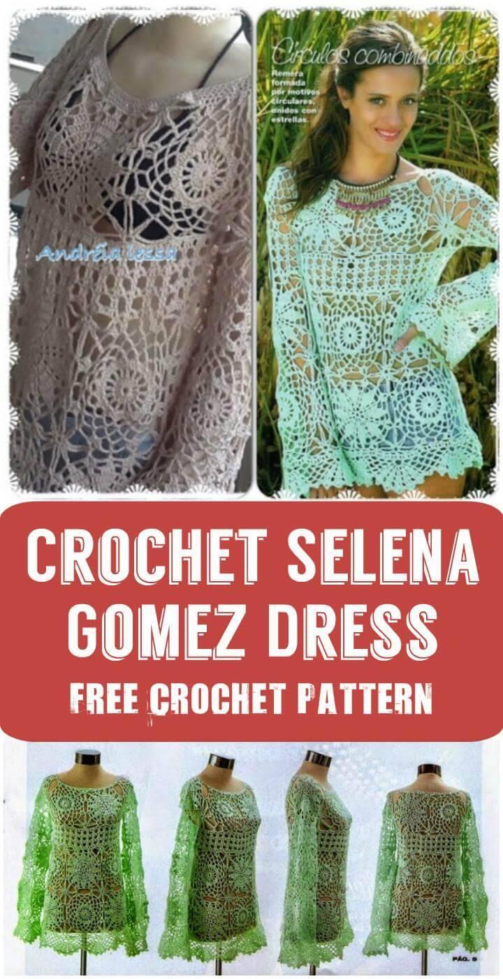 3987663b76 Crochet Selena Gomez Dress: Crochet Selena Gomez Dress Free Crochet Pattern