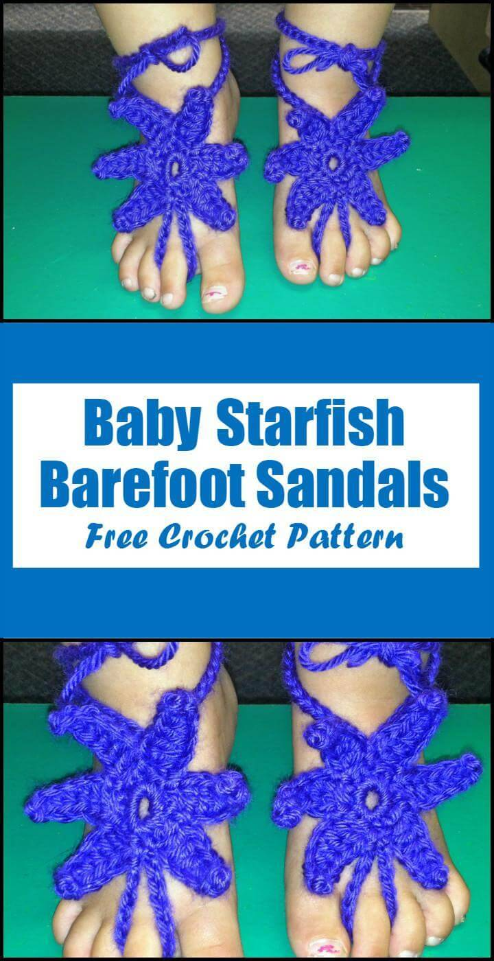 Crochet Baby Starfish Barefoot Sandals