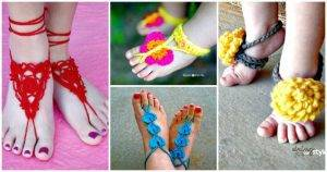 Crochet Barefoot Sandals – 50+ Free Crochet Patterns