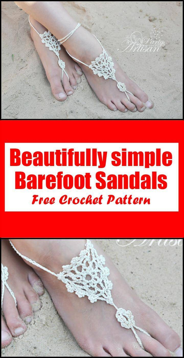 Crochet Beautifully simple Barefoot Sandals