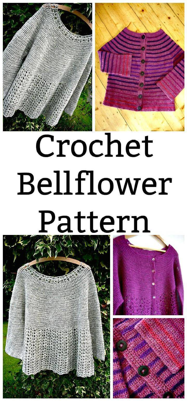 Crochet Bellflower Poncho Free Pattern