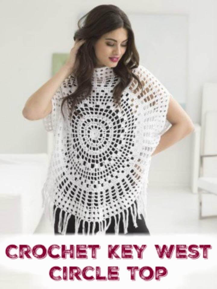 Crochet Key West Circle Top