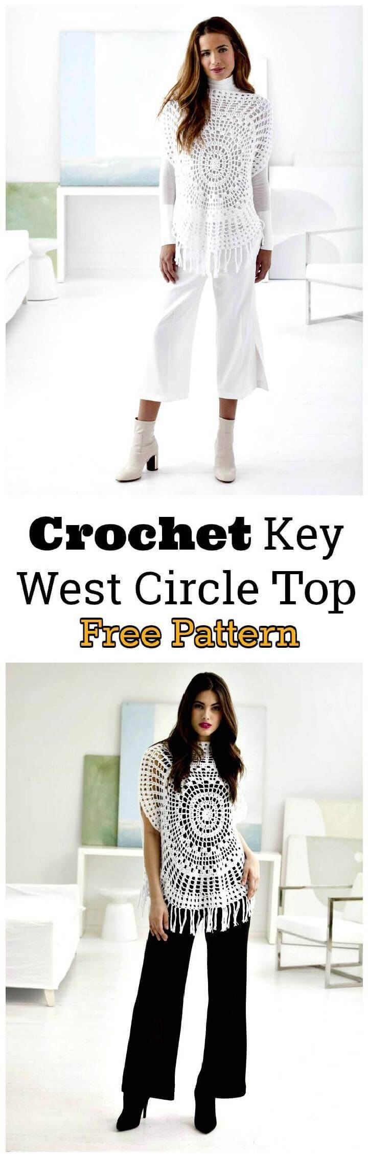 Crochet Key West Circle Top