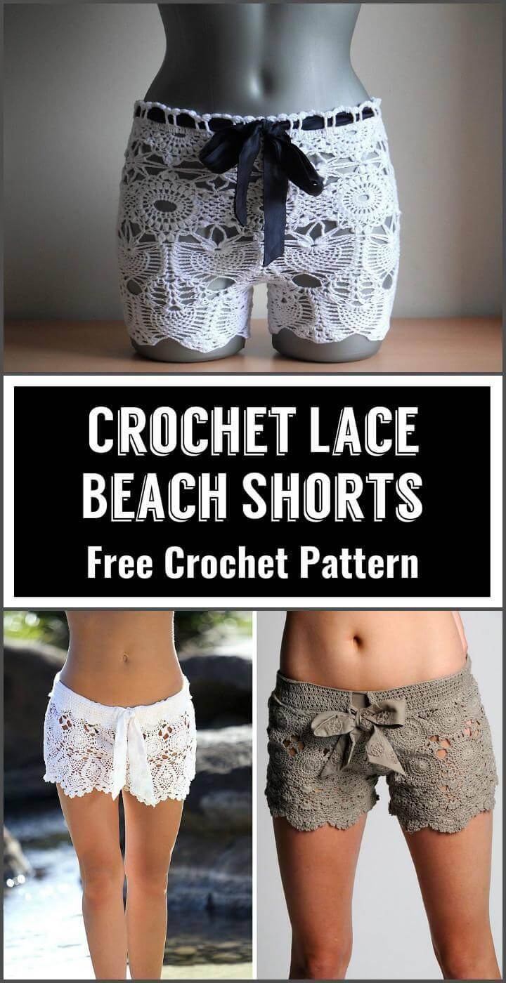 Crochet Lace Beach Shorts Free Crochet Pattern