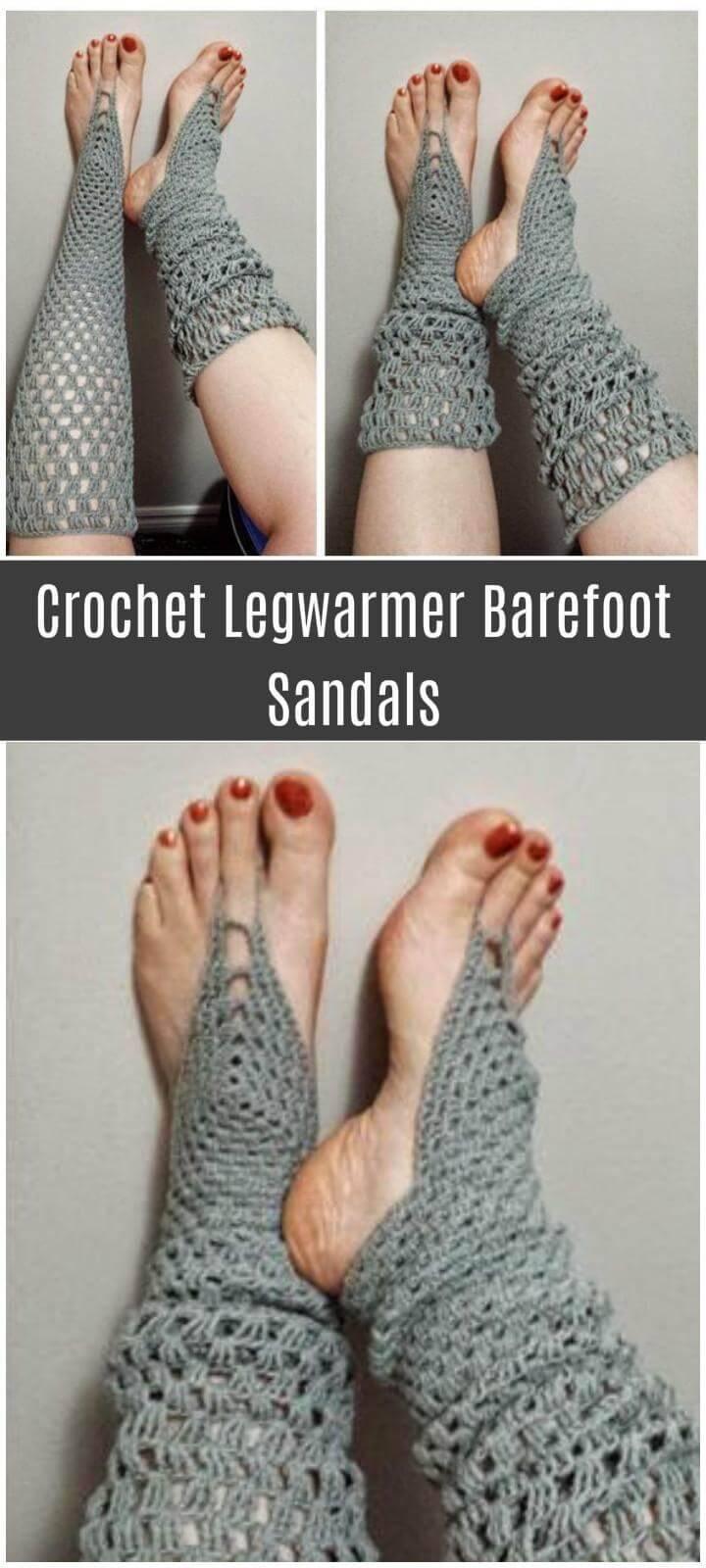 Crochet Legwarmer Barefoot Sandals Free Pattern