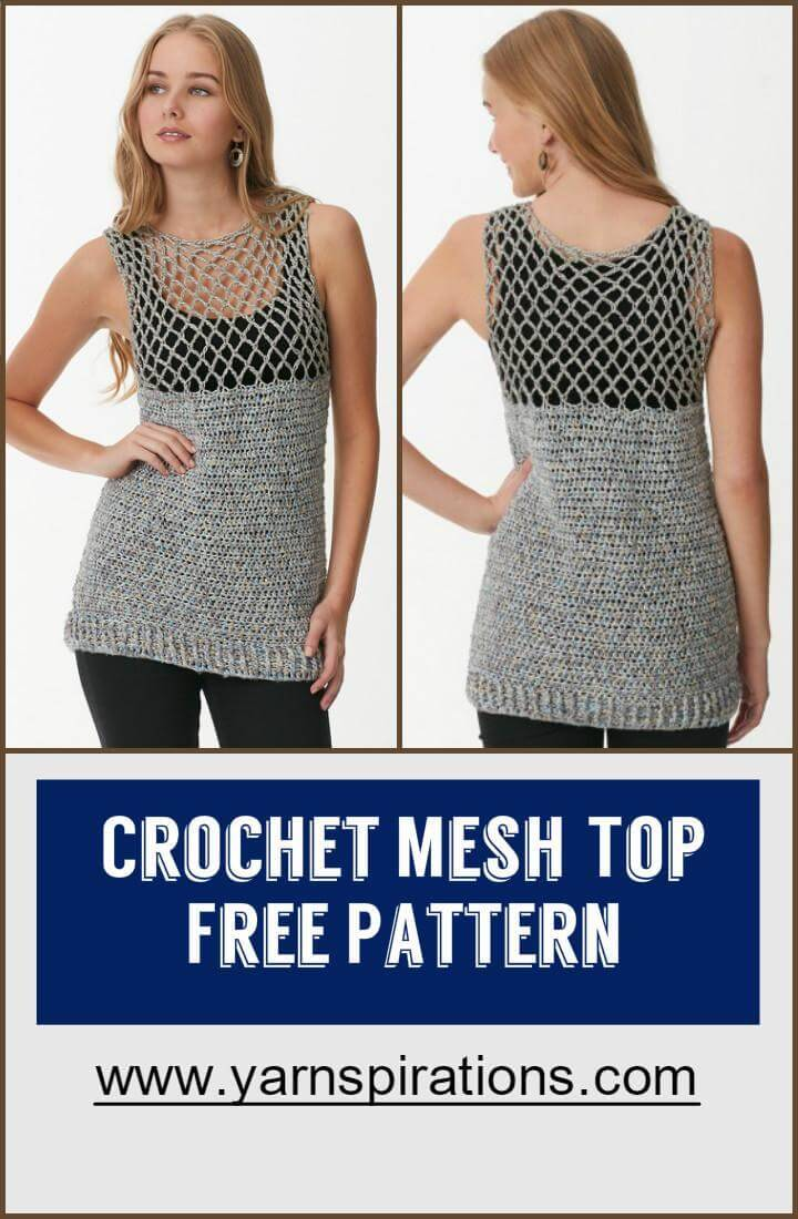 Crochet Mesh Top Free Pattern
