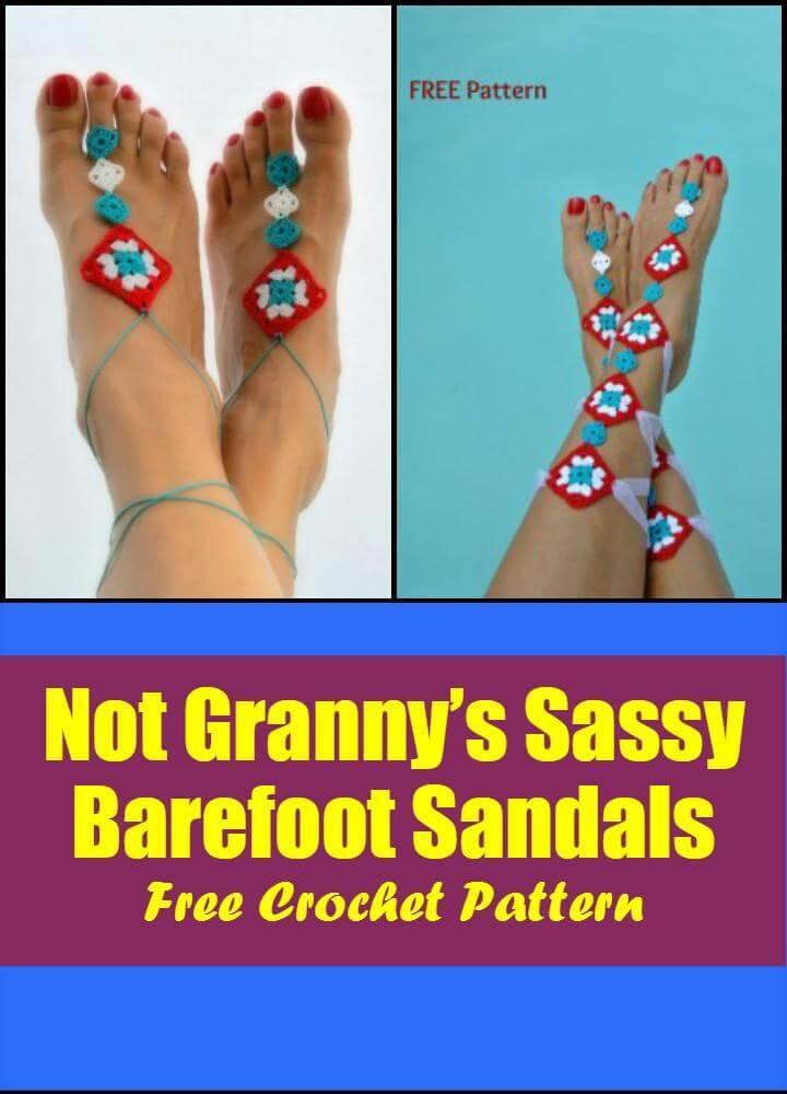 Crochet Barefoot Sandals - 50+ Free Crochet Patterns - DIY & Crafts