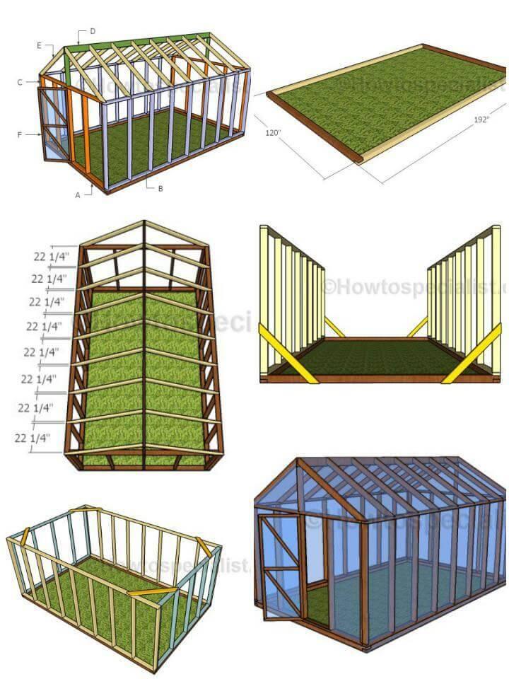 DIY 10X16 Greenhouse Plans