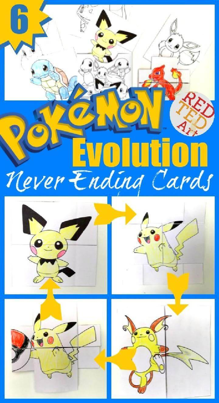 DIY Amazing Pokemon Evolution Cards Printables