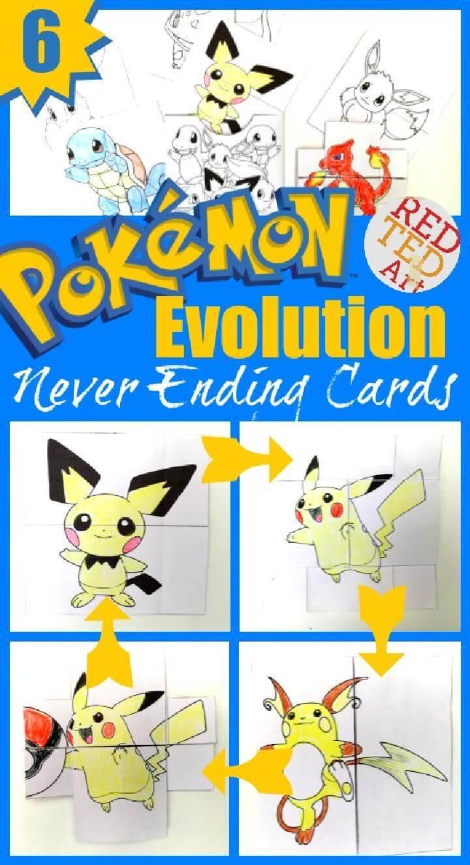 DIY Amazing Pokemon Evolution Cards Printables