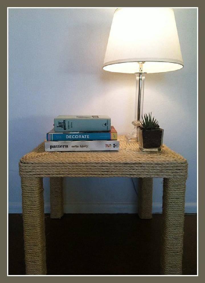DIY Amazing Sisal Rope Table