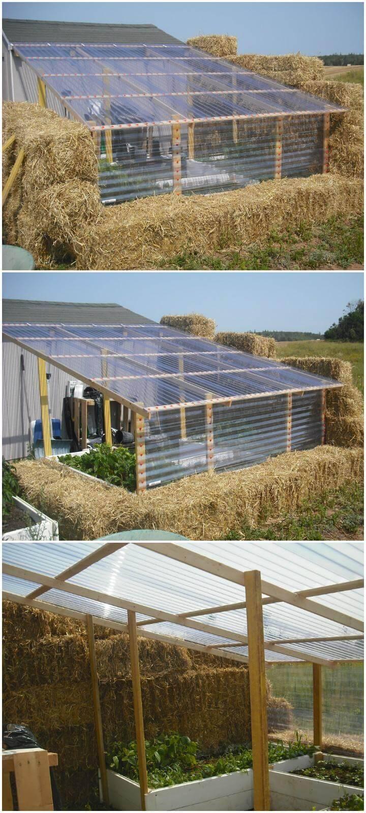 DIY Amazing Straw Bale Greenhouse