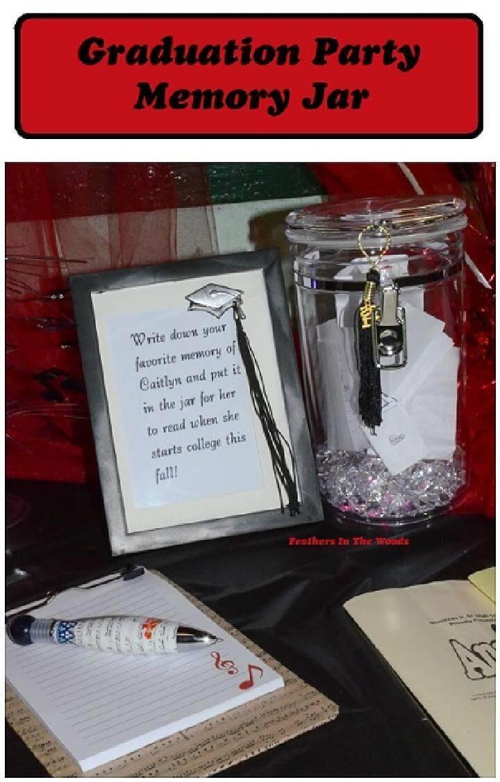 DIY Awesome Graduation Party Memory Jar