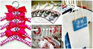 DIY Baby Closet Dividers To Organize Baby Clothes