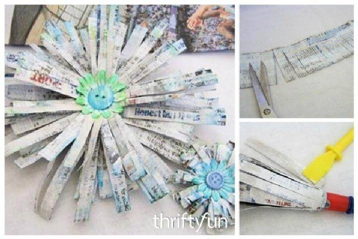 DIY Beautiful Newspaper Flower