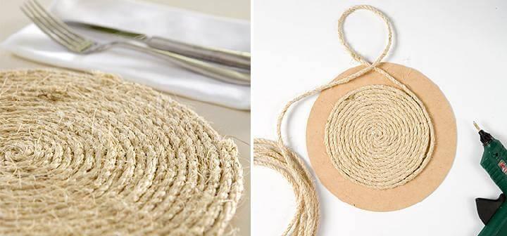 DIY Beautiful Rope Table Mats
