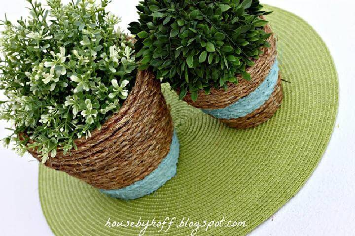 DIY Beautiful Rope Wrapped Pots