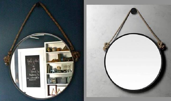 DIY Beautiful Round Rope Mirror