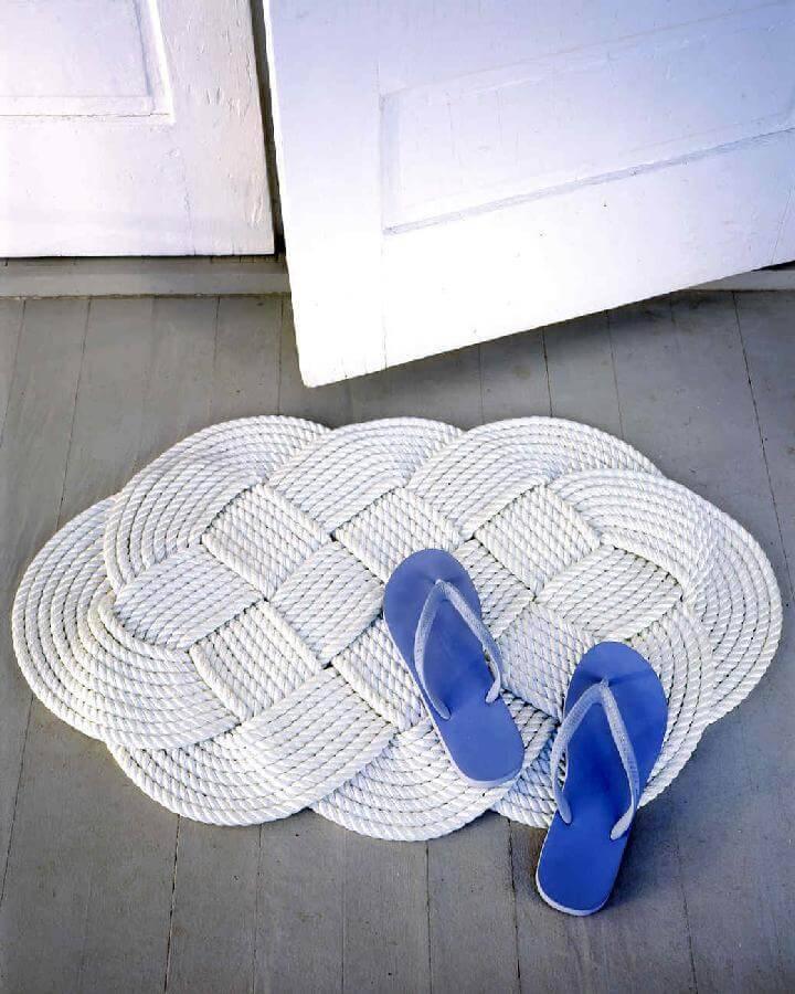 DIY Braided Rope Door Mat