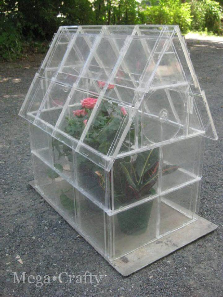 DIY CD Case Greenhouse