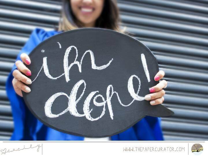DIY Chalkboard Speech Bubble