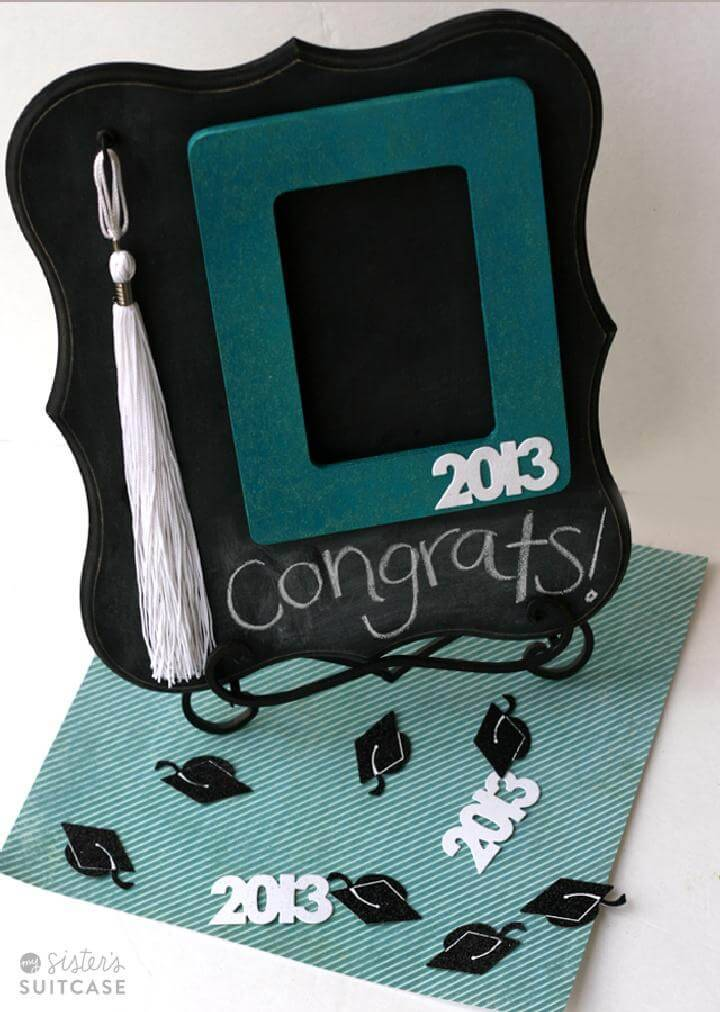 DIY Chalkboard and Tassel Graduation Frame