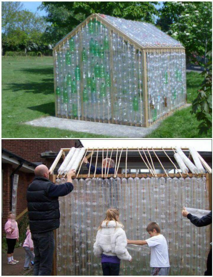 DIY Cheap but Beautiful Plastic Bottle Greenhouse