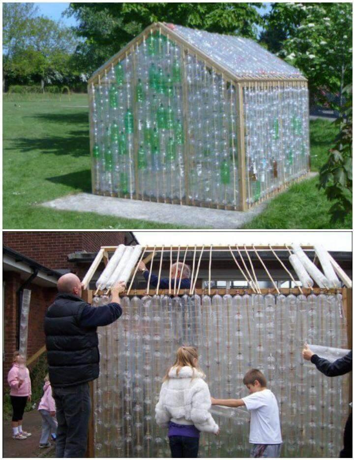 DIY Cheap but Beautiful Plastic Bottle Greenhouse