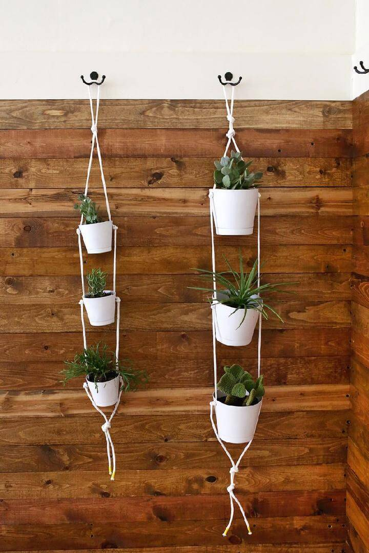 DIY Chic White 3-Tier Indoor Planters