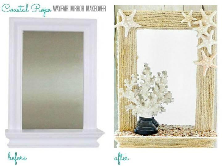 DIY Coastal Rope Mirror