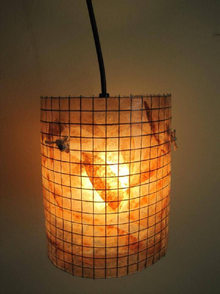 DIY Coffee Filter Beautiful Lamp
