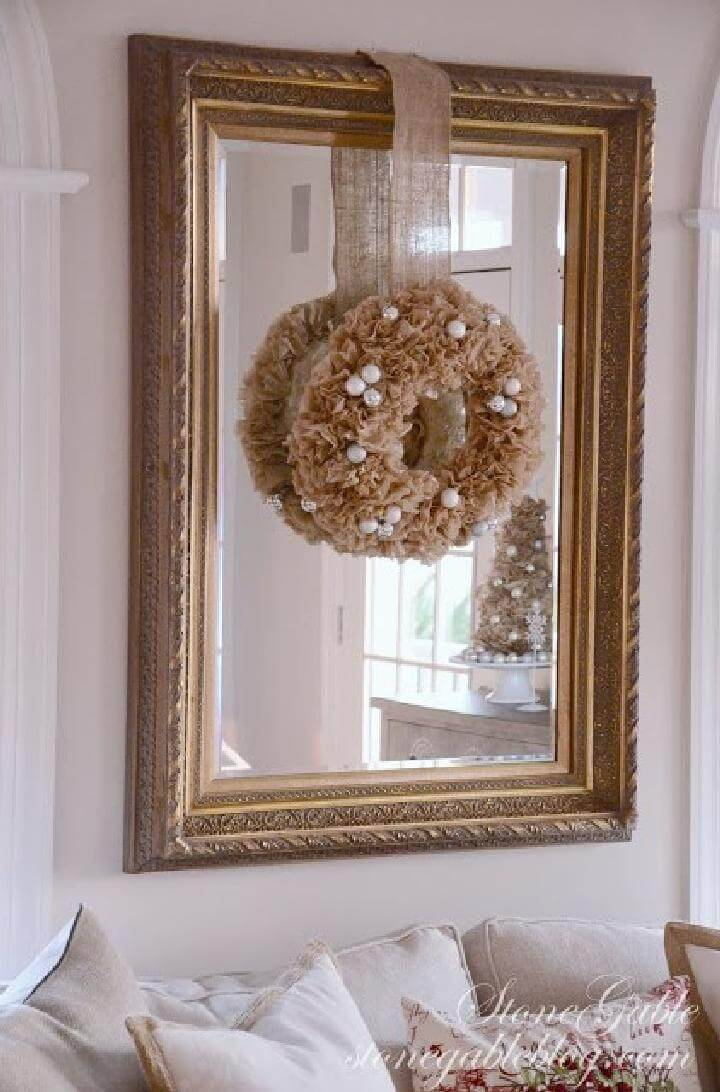 DIY Coffee Filter Beautiful Wreath