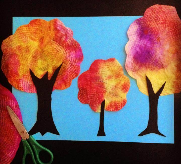 DIY Coffee Filter Fall Tree Collage
