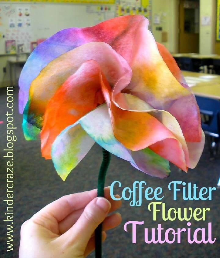 DIY Coffee Filter Flower Instructions