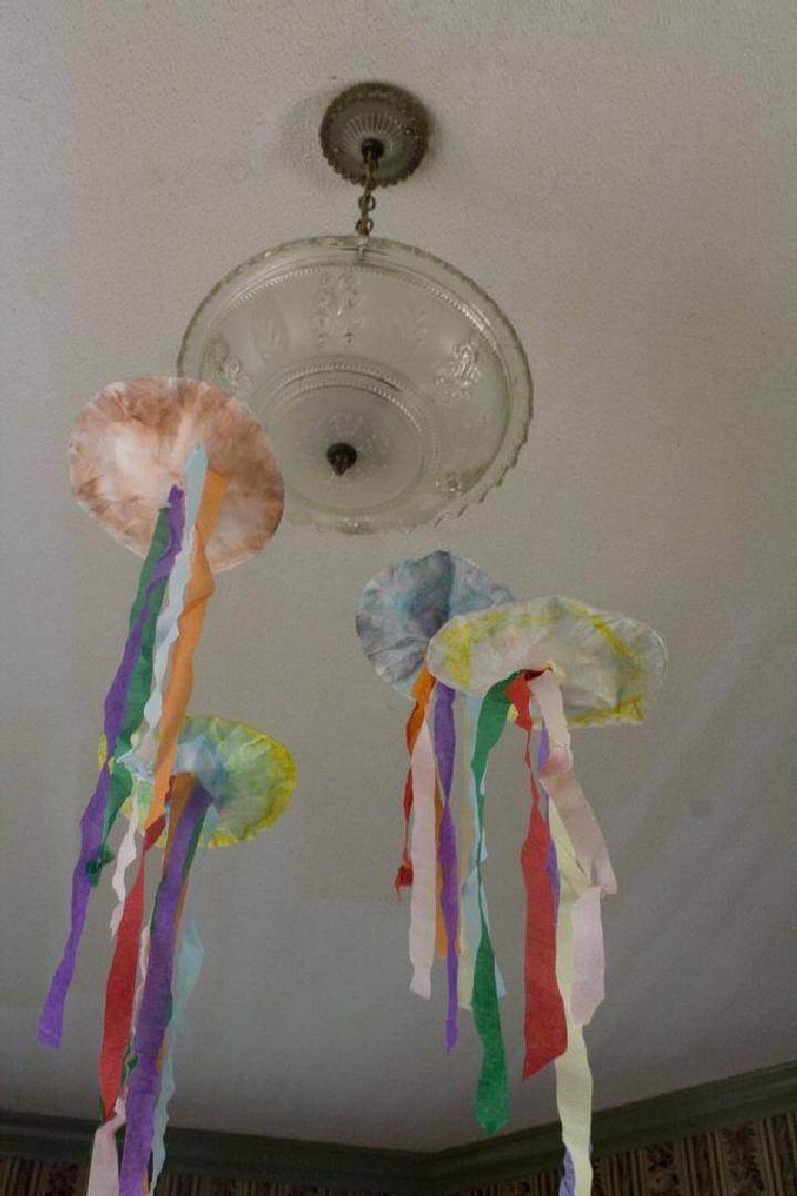 DIY Coffee Filter Jellyfish