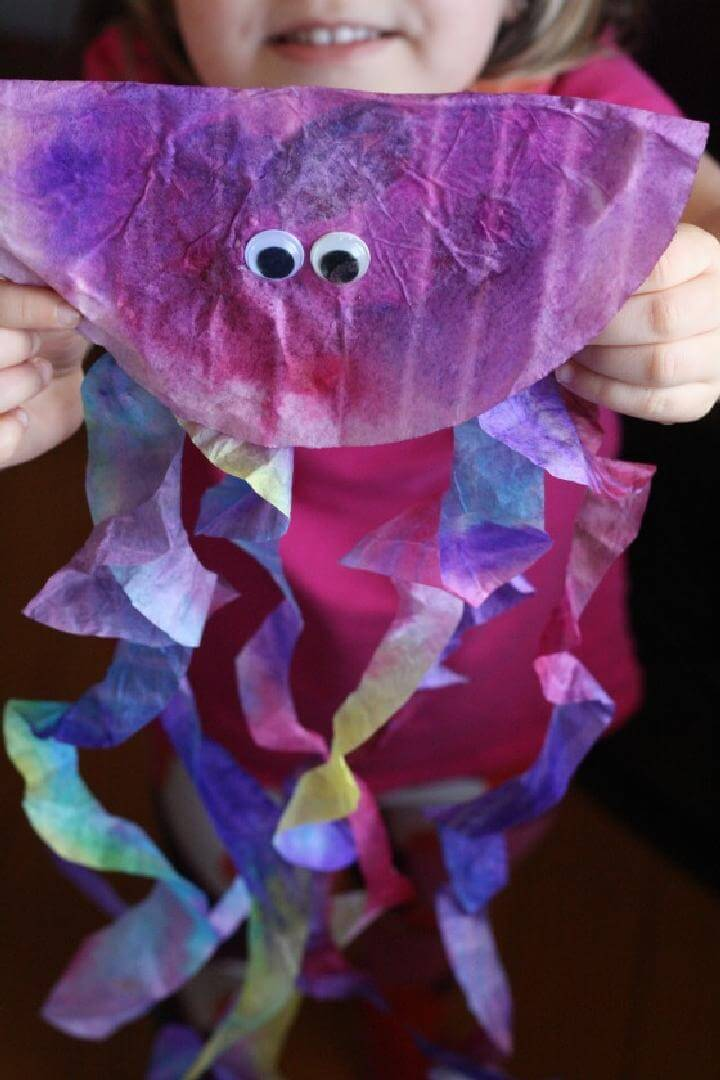 DIY Coffee Filter Jellyfish