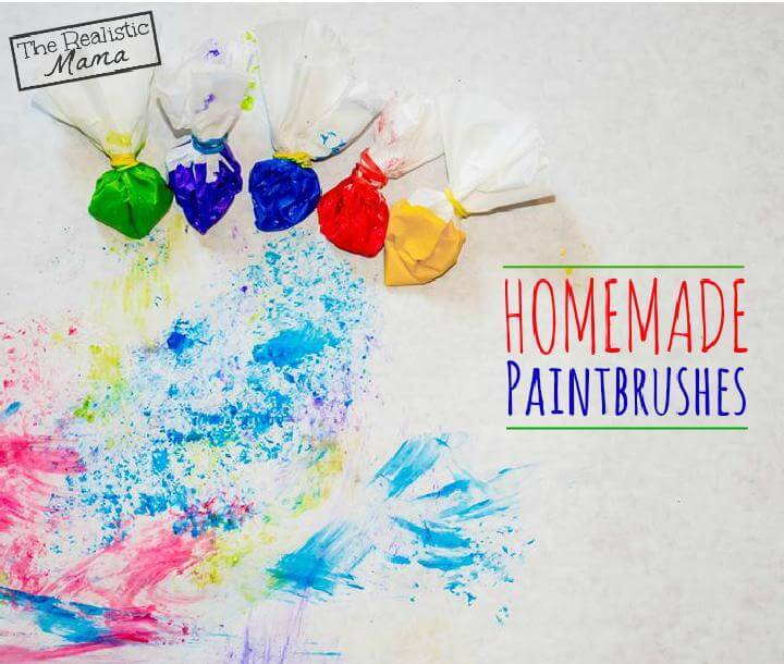 DIY Coffee Filter Paint Brushes