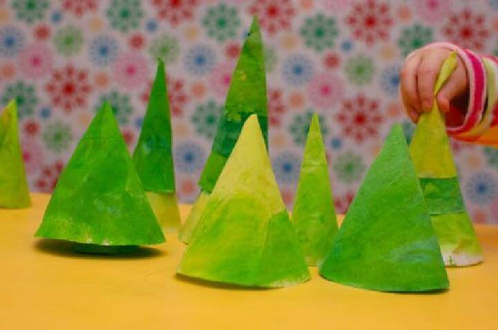 DIY Coffee Filter Pine Forest Playscape